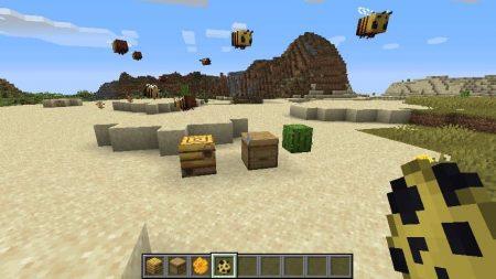 abeilles minecraft 1.15 ruche et nid