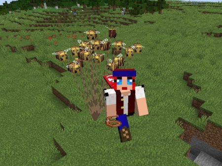 abeilles minecraft 1.15 laisse