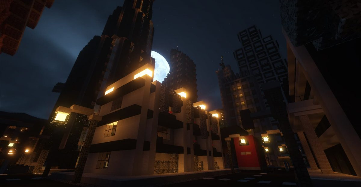 Beyond Belief Shaders : Une ville la nuit