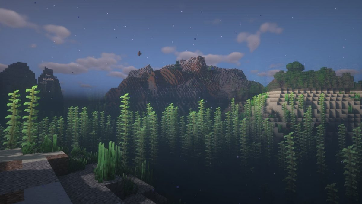 Rendu du BSL Shaders sous l'eau dans Minecraft