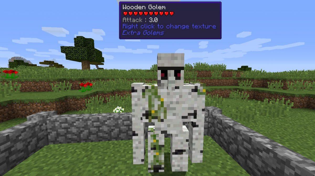 Mod Minecraft Extra Golems : Golem de bois