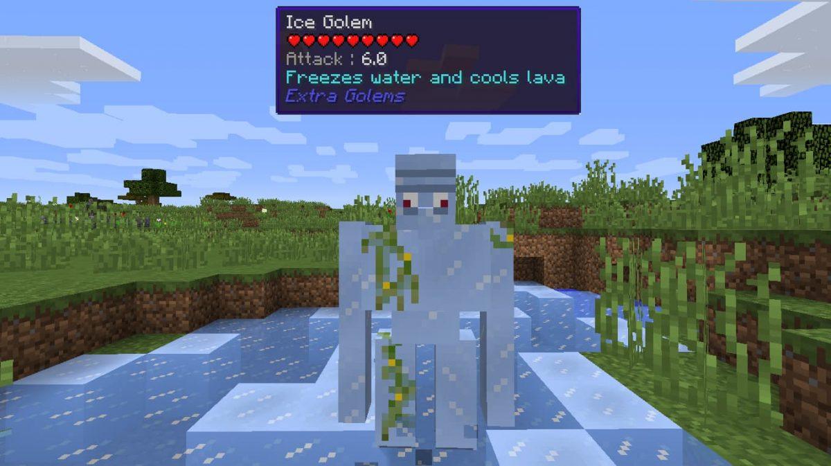 Mod Minecraft Extra Golems : Golem de glace