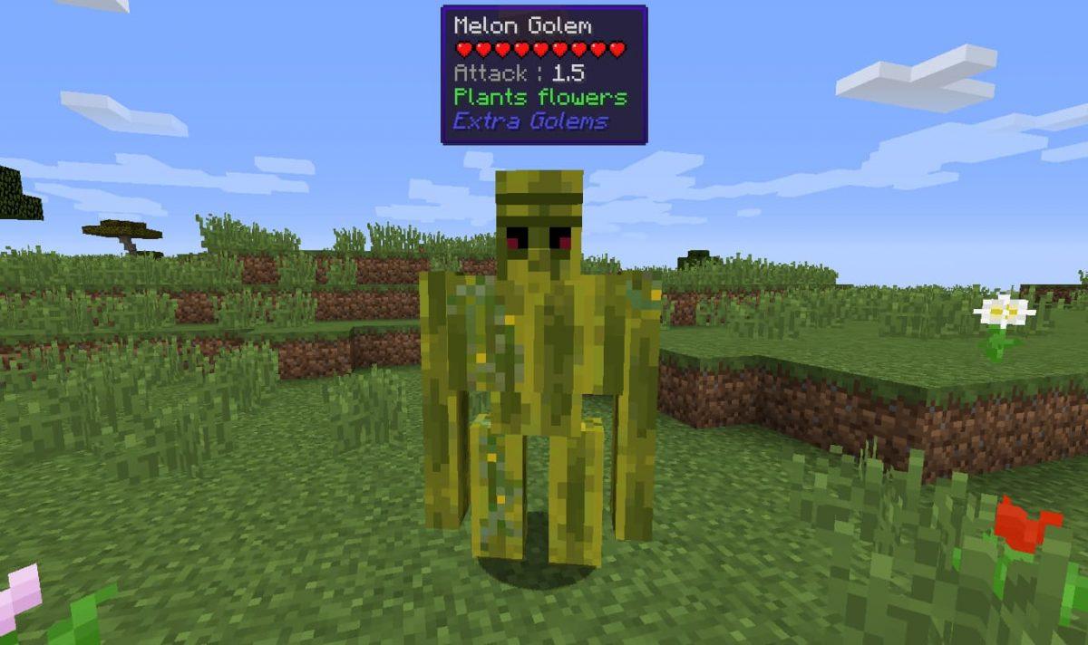 Mod Minecraft Extra Golems : Golem pastèque