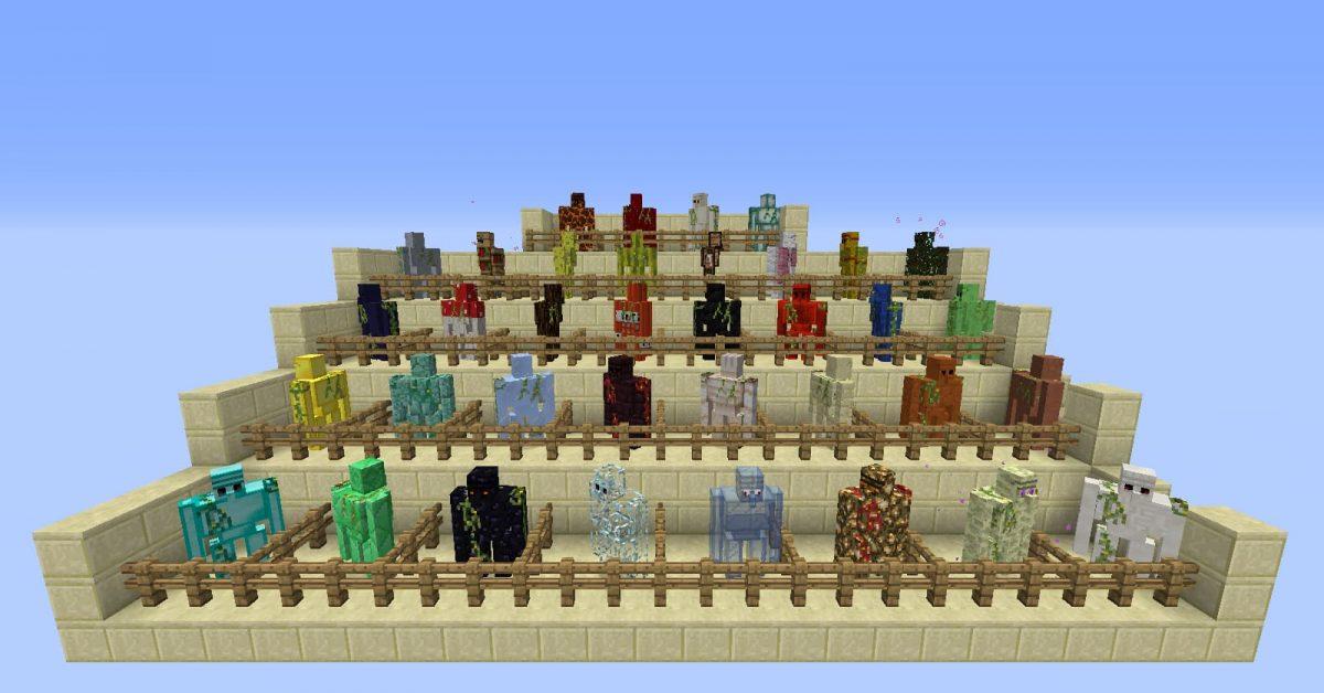 Mod Minecraft Extra Golems : Tous les golems (ou presque)