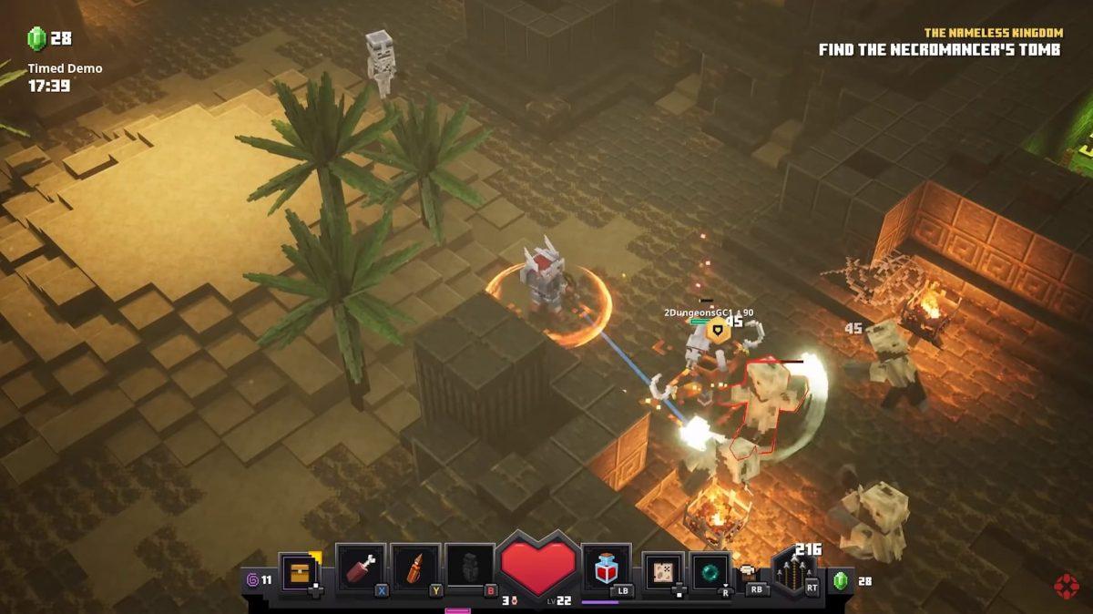 Vidéo de gameplay de Minecraft Dungeons : Un combat