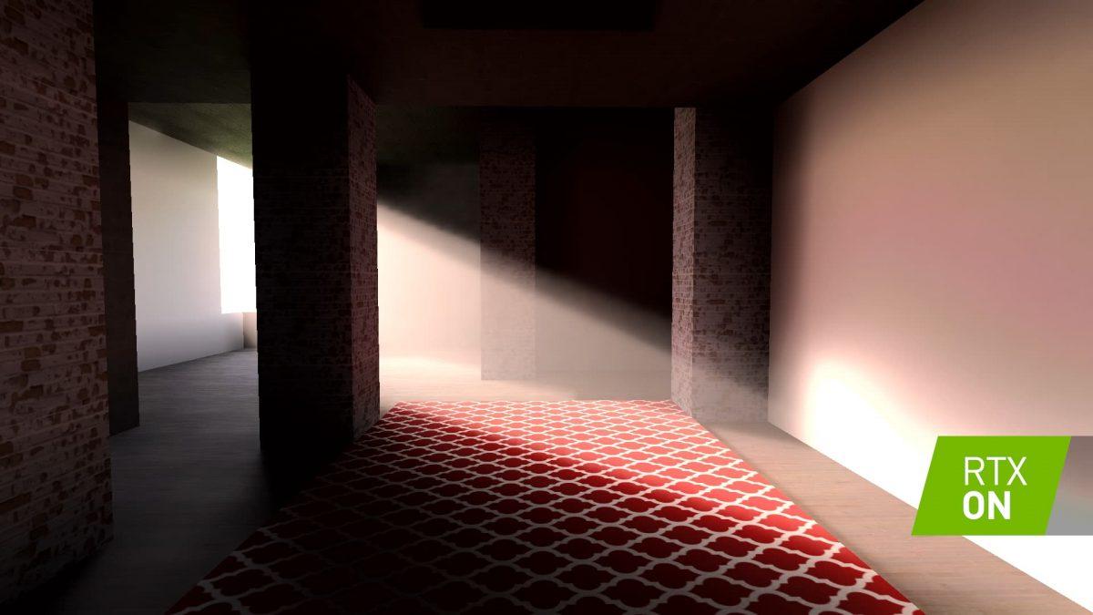 Minecraft avec RTX activé lumière