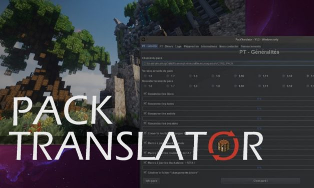 Pack Translator : Convertir un resource pack Minecraft