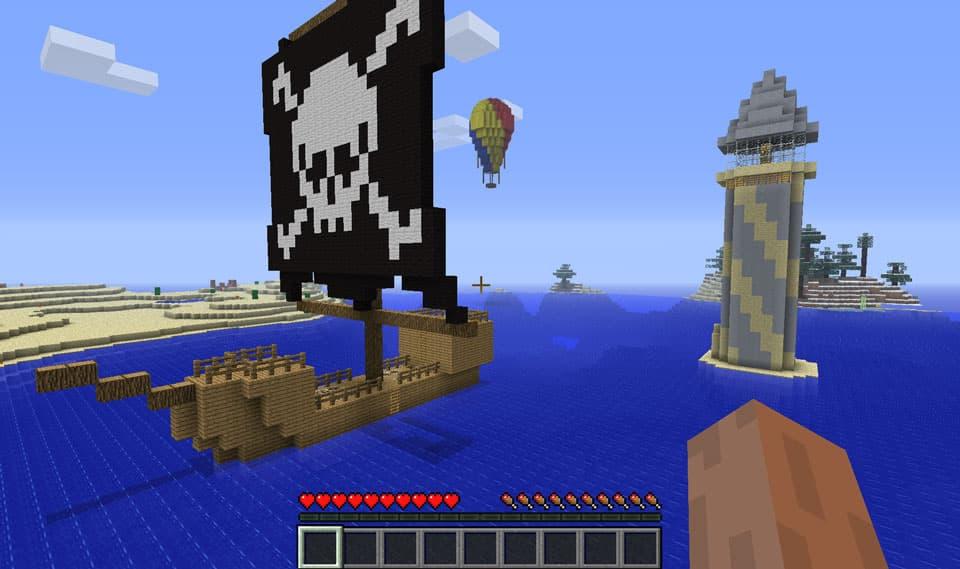 Mod Minecraft Ruins : Bateau pirate et phare