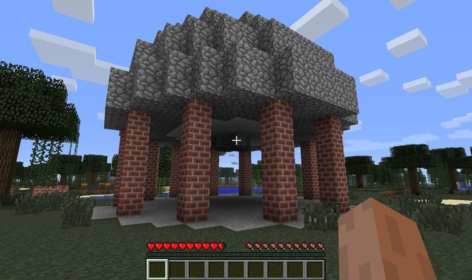 Mod Minecraft Ruins : Construction brique