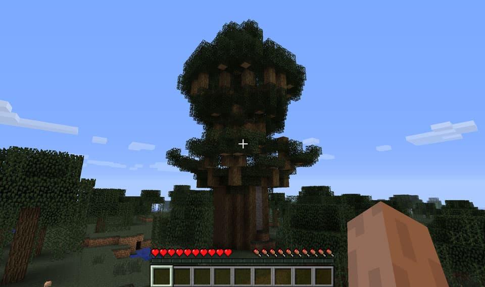 Mod Minecraft Ruins : Maison dans un arbre