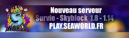 top serveur minecraft pvp faction seaworld