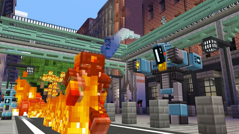 Superheroes Map Minecraft Bedrock : Combat