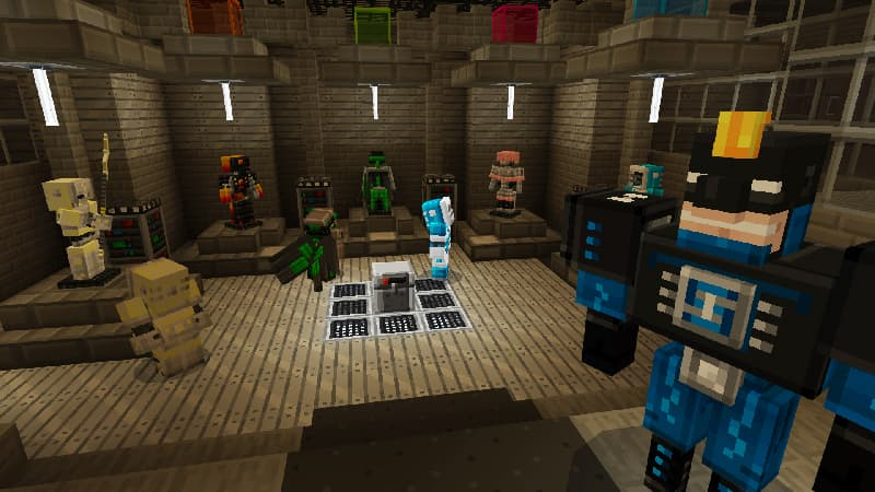 Superheroes Map Minecraft Bedrock : Souterrain