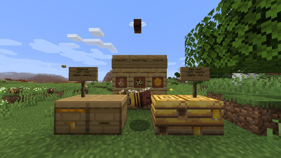 Quelques nouveaux blocs de la mise à jour 1.15 de Minecraft