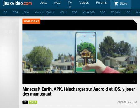 Minecraft Earth APK sur jeuxvideo.com