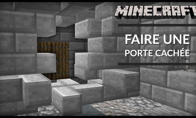 Comment faire des portes cachées dans Minecraft ?