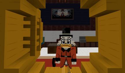 Map Minecraft Bedrock : Ducktales - La bande à Picsou. Coffre Picsou