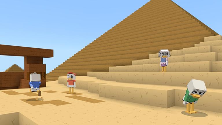 Map Minecraft Bedrock : Ducktales - La bande à Picsou. Pyramide
