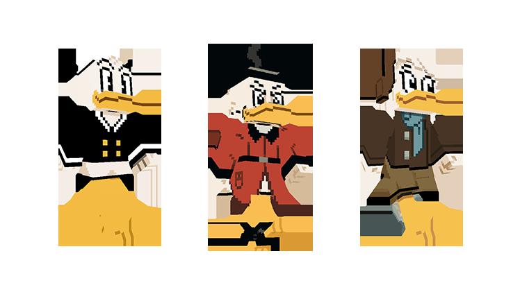 Map Minecraft Bedrock : Ducktales - La bande à Picsou. Skin picsou et donald