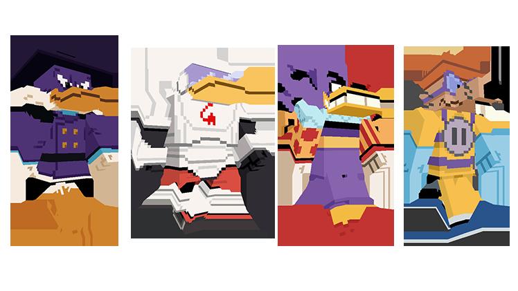 Map Minecraft Bedrock : Ducktales - La bande à Picsou. Skin méchant