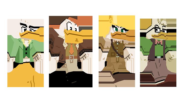 Map Minecraft Bedrock : Ducktales - La bande à Picsou. Skin aviateur