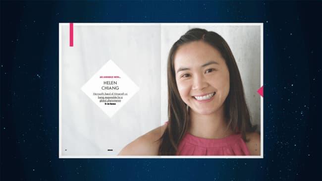 Helen Chiang : Directrice de la production de Minecraft chez Microsoft