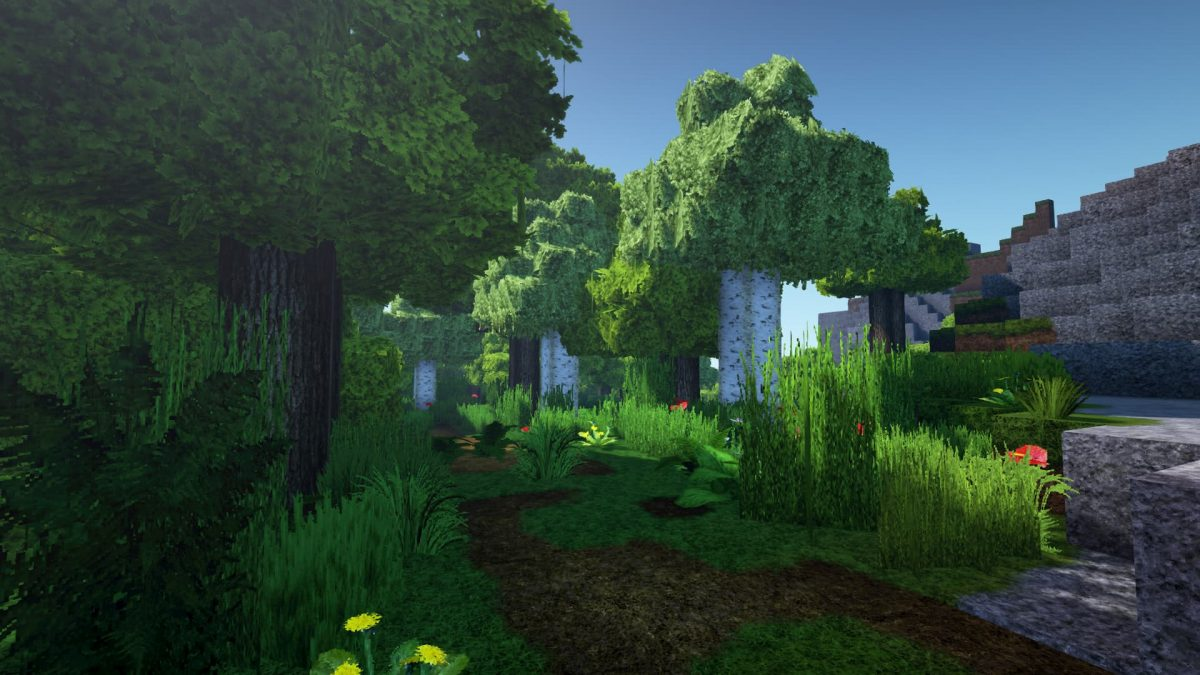LB Photo Realism Resource Pack Minecraft foret shaders