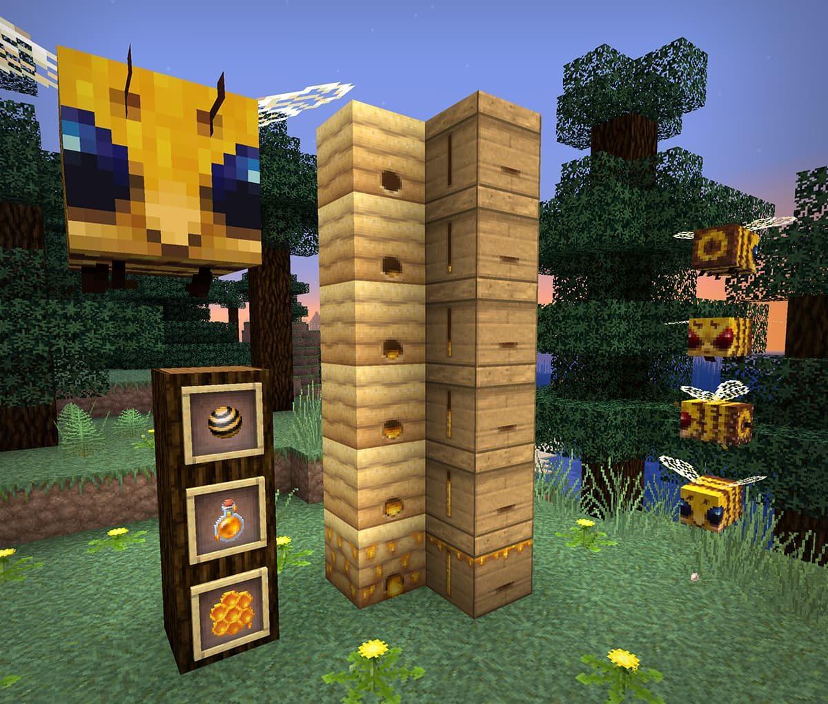 lithos core pack de textures minecraft abeilles miel