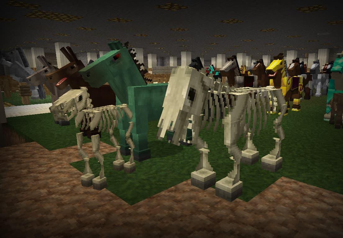 lithos core pack de textures minecraft chevaux