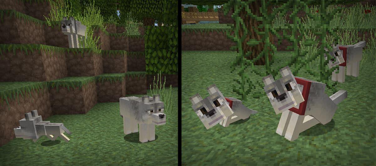lithos core pack de textures minecraft chien loup