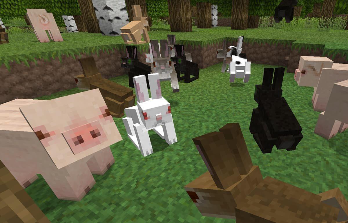 lithos core pack de textures minecraft cochon lapin