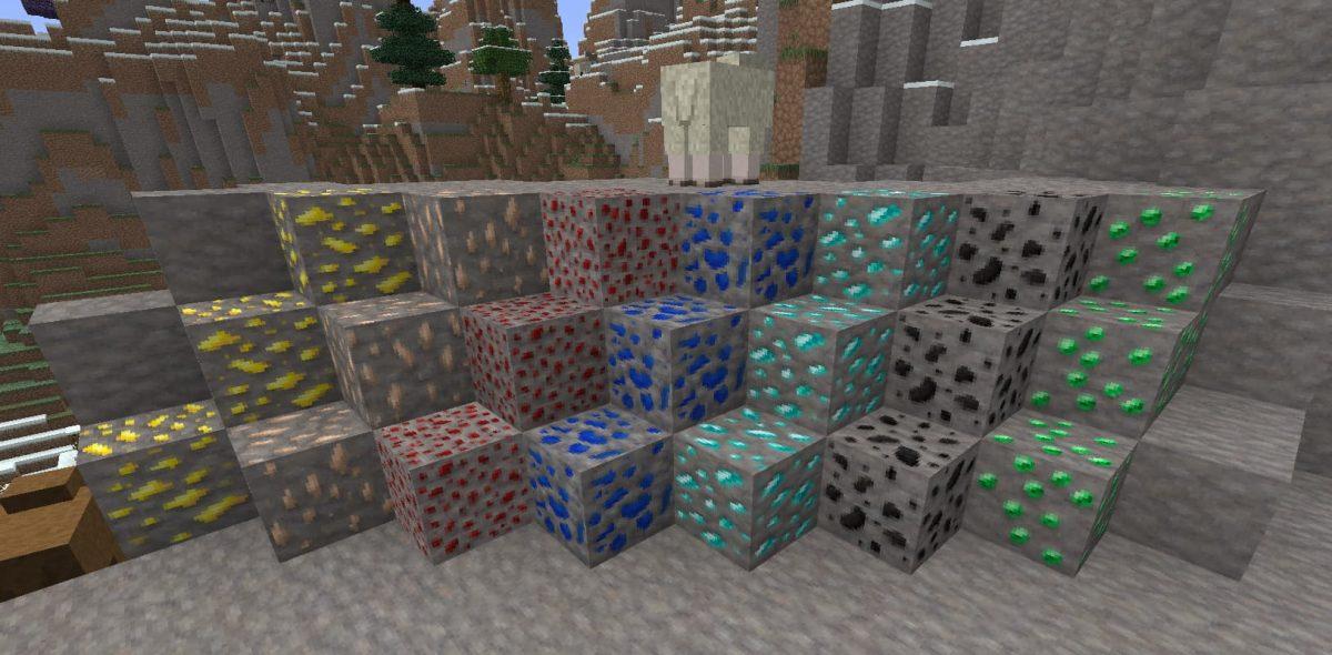 lithos core pack de textures minecraft minerai