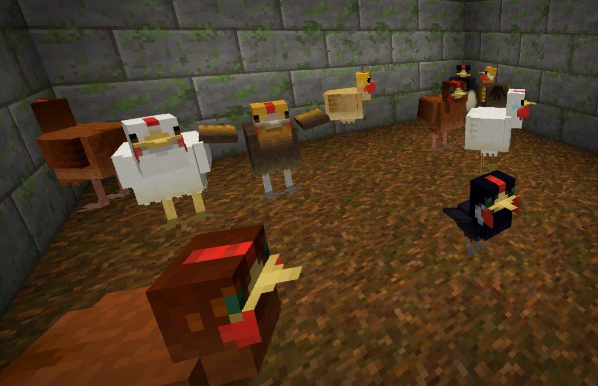 lithos core pack de textures minecraft poule poulet