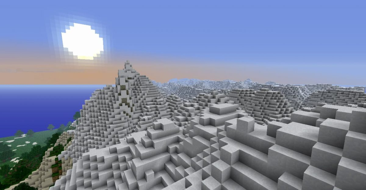 map minecraft terre earth neige