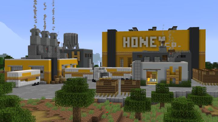 Map Usine à Abeilles Minecraft : Vue extérieur