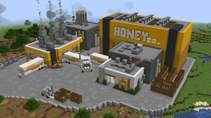 Map Usine à Abeilles Minecraft : Autre vue dehors