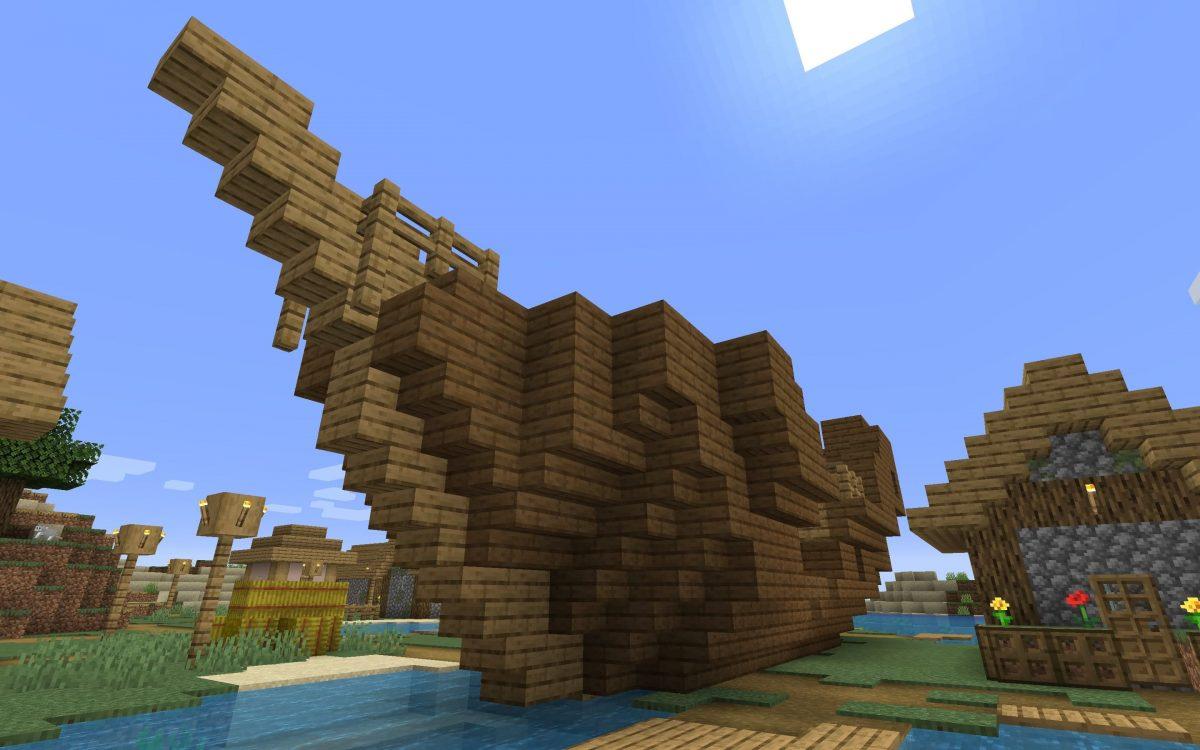Meilleur Seed Minecraft 1.14 : bateau village ile épave
