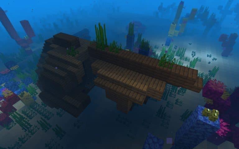 Meilleur Seed Minecraft 1.14 : bateau village ile épave corail