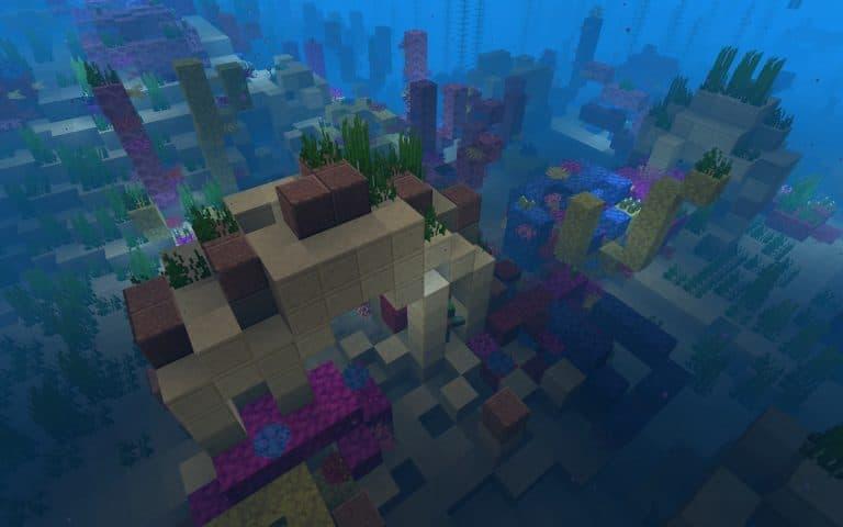 Meilleur Seed Minecraft 1.14 : bateau village ile corail