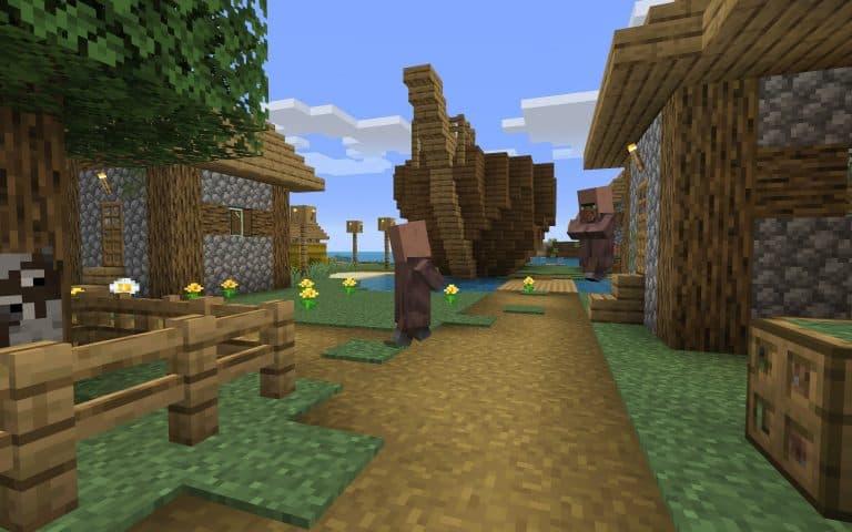 Meilleur Seed Minecraft 1.14 : bateau milieu village ile