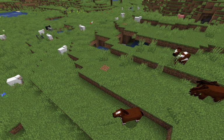 Meilleur Seed Minecraft 1.14 : Ferme moutons et chevaux