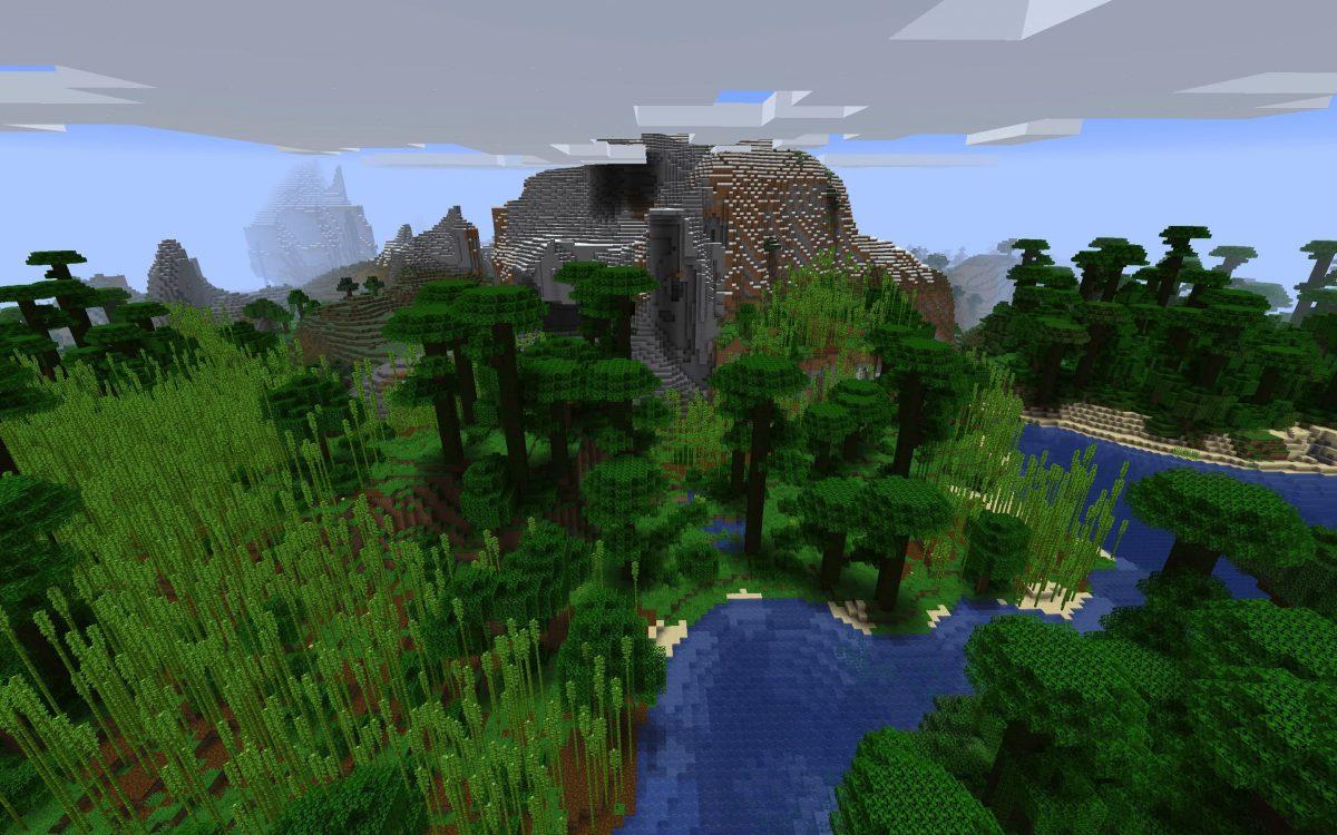 Meilleur Seed Minecraft 1.14 : Foret de bambous et plage