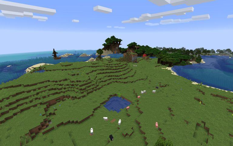 Meilleur Seed Minecraft 1.14 : Grande ile