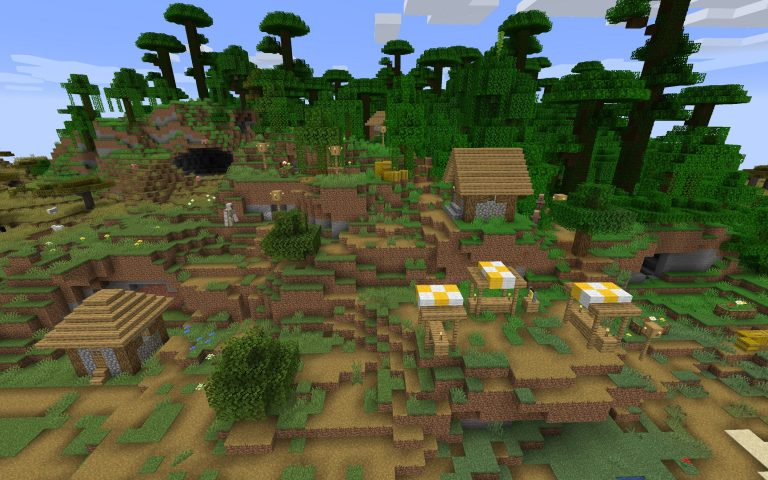 Meilleur Seed Minecraft 1.14 : Village jungle pyramide foret