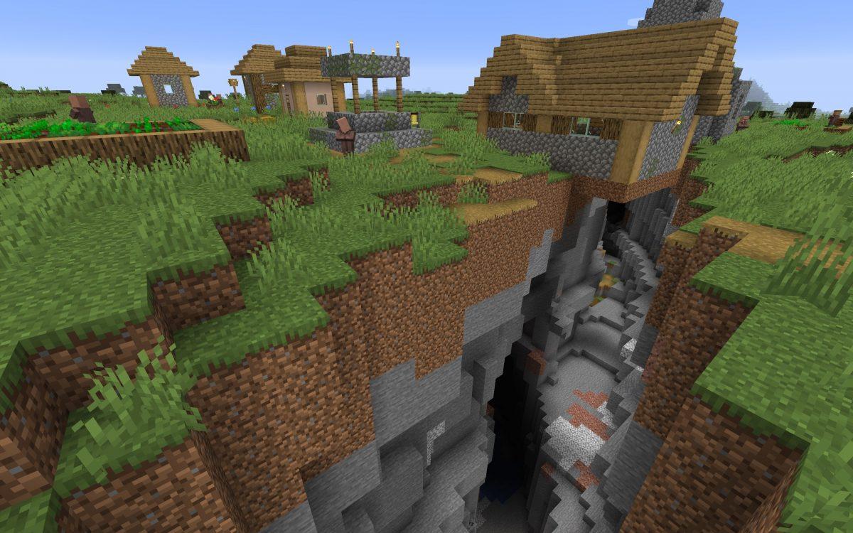 Meilleur Seed Minecraft 1.14 : Village coupé par un ravin