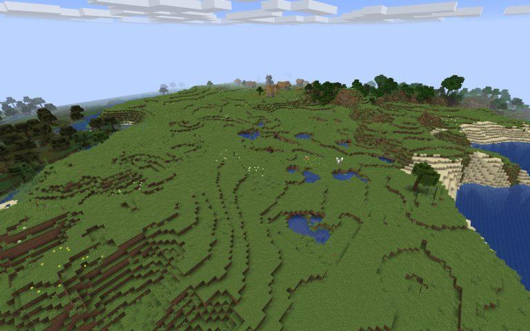 Meilleur Seed Minecraft 1.14 : Village coupé par un ravin plaine