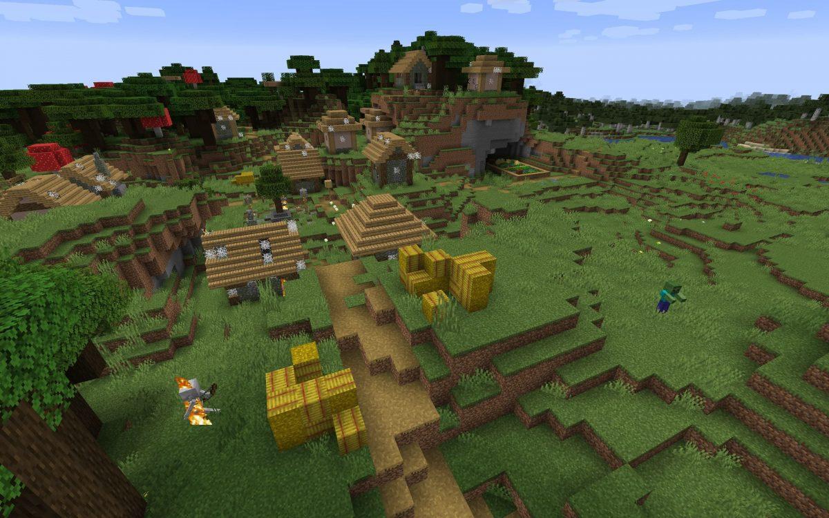 Meilleur Seed Minecraft 1.14 : Village détruit par des zombies