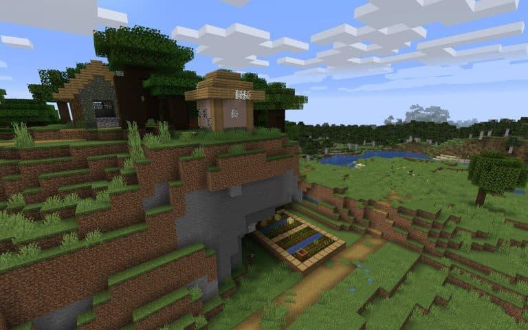 Meilleur Seed Minecraft 1.14 : Restes du village détruit par des zombies