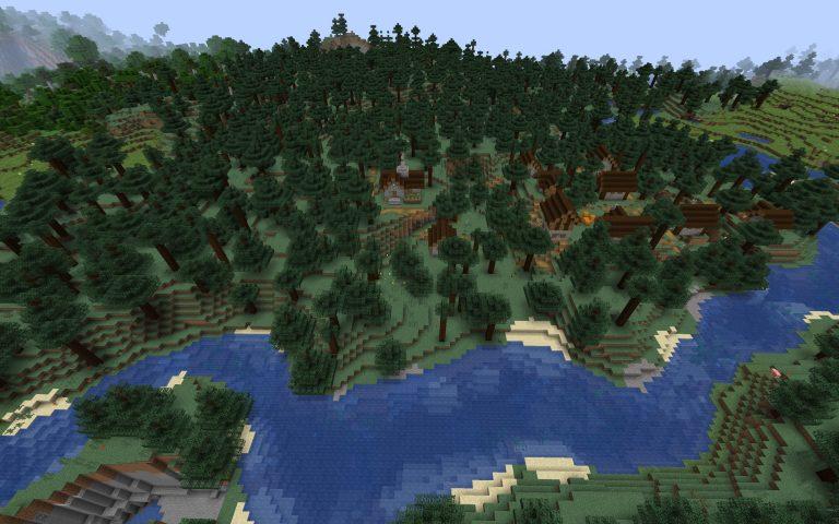 Meilleur Seed Minecraft 1.14 : Village taiga caverne biome
