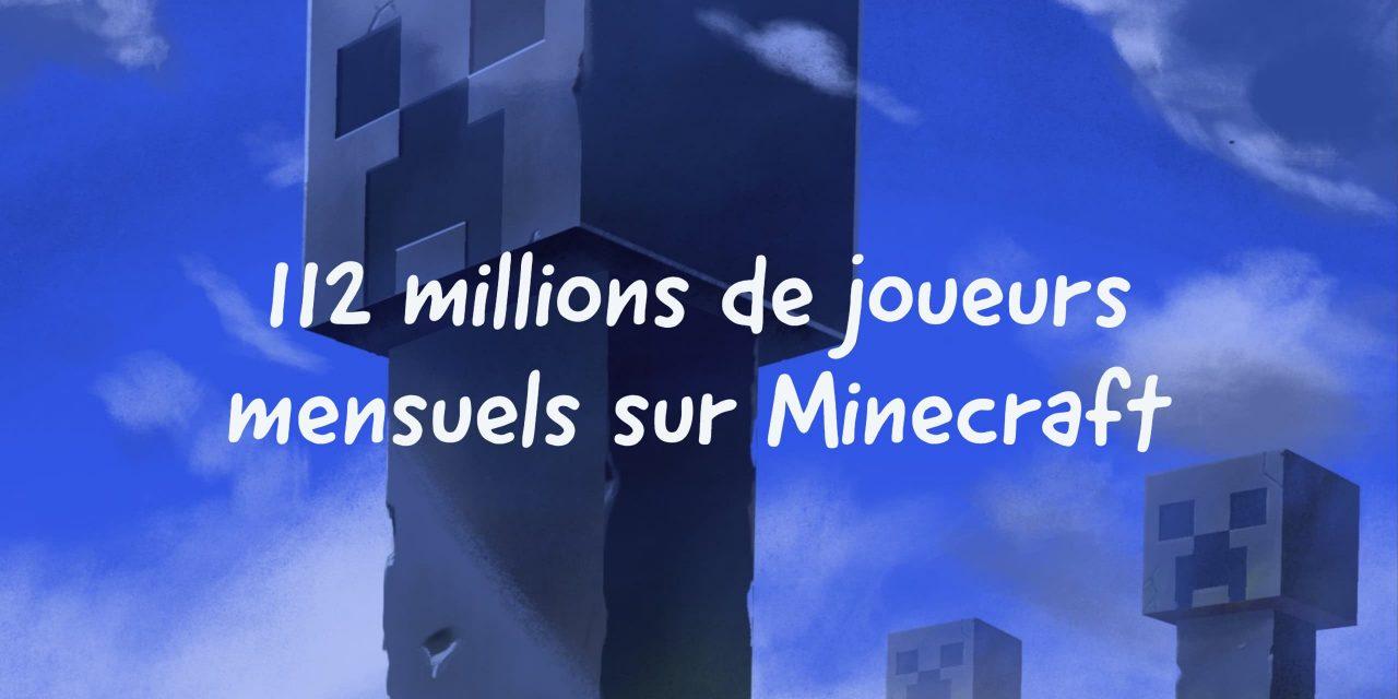 Plus de 112 millions de personnes jouent à Minecraft chaque mois